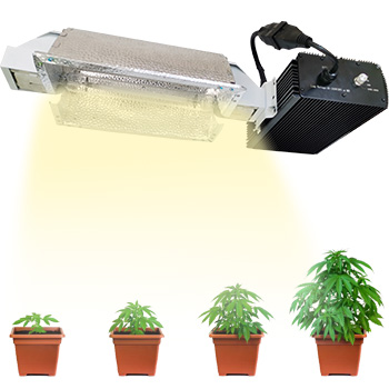 1000W Double Ended Fixture with1000-Watt DE HPS High-Pressure Sodium Bulb Reflector and Digital Dimmable Ballast 240V for Indoor Plants Grow Light