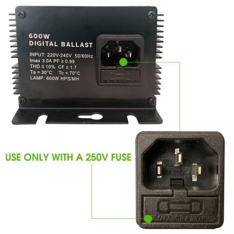 600 Watt 220V Horticulture Digital Dimmable Electronic Ballast for Hydroponics HPS MH Grow Light 1