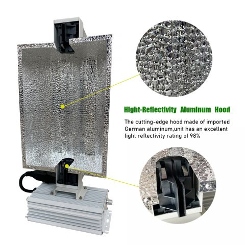 CMH 630w Ceramic Metal Halide Complete Lamp Fixture System for Greenhouse Plants and Medicine Cannabis Growth 347V Full Spectrum Grow Light 1